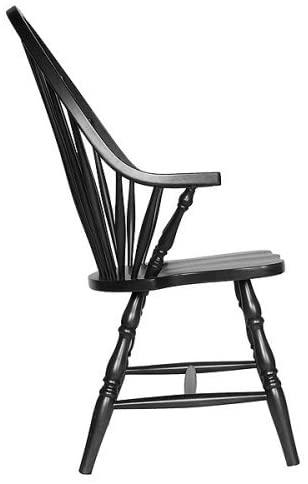 Carolina Classic Cottage Windsor Arm Chair, Antique Black