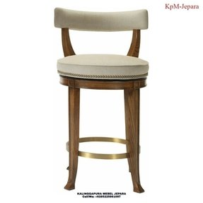 Curved back bar stool 3