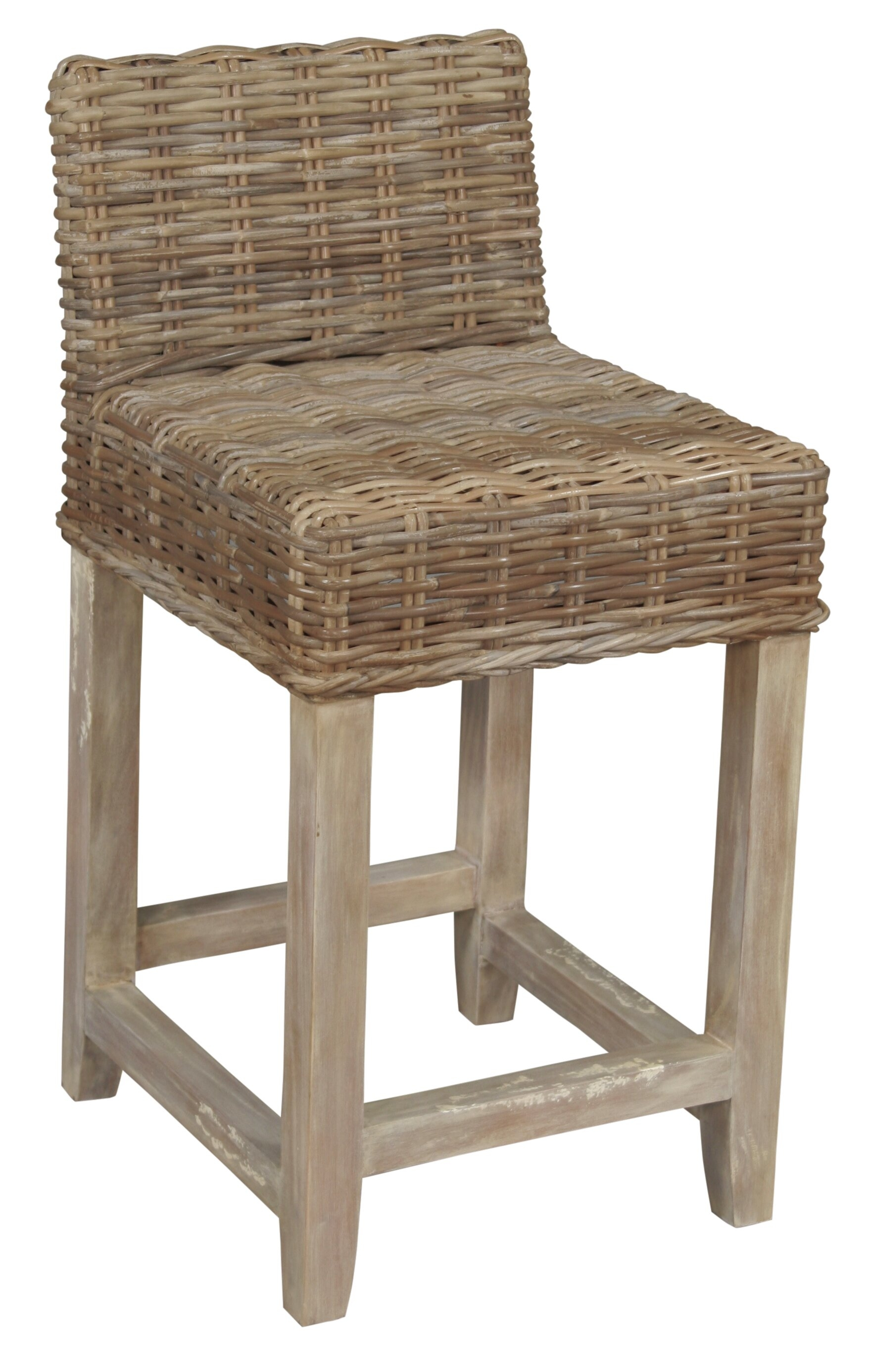 Greenwood mills baxter rattan counter stool