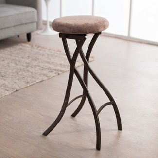 Inella Destiny 29 In Backless Folding Bar Stool Brownstone