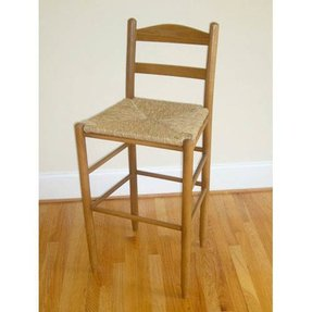 Ladder Back Stool Woven Seat Foter