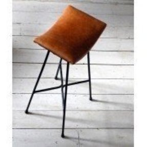 Leather saddle bar stool 15