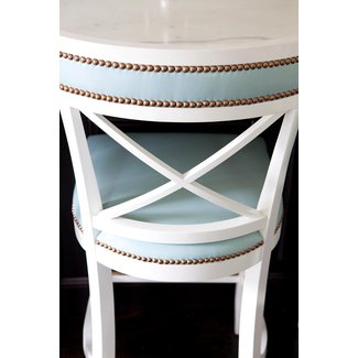 Love these bar stools with the nail head detail house