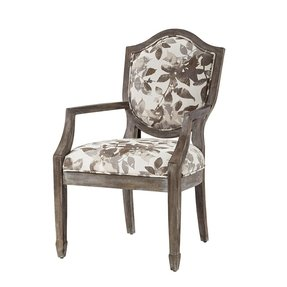 Madison Park Hampton Shield Back Exposed Wood Arm Chair - Multi - 26x23x38.5""