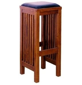 Mission style bar stool