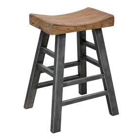 Myrna square bar stool made of durable pine wood this