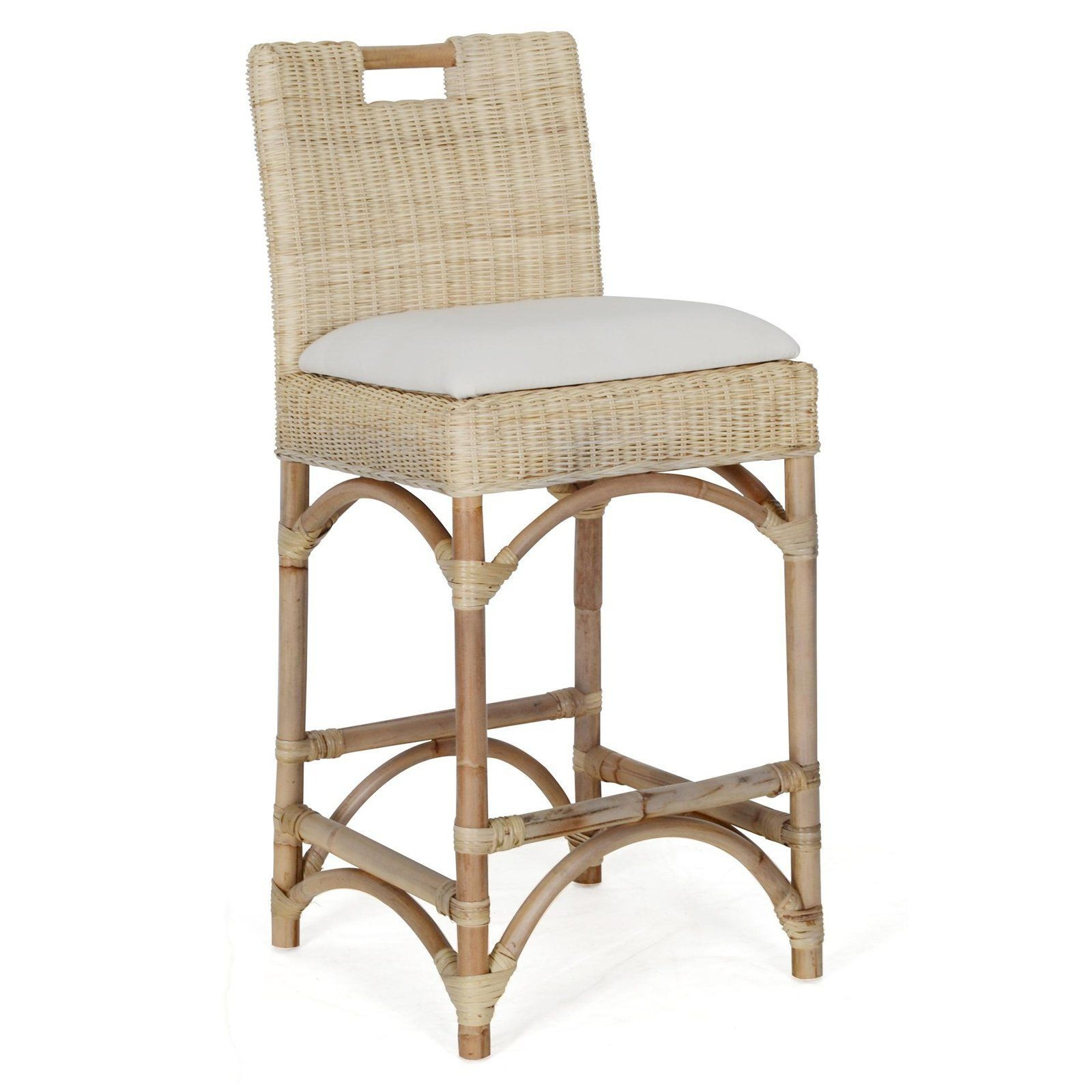 Natural habitat farlowe rattan counter stool