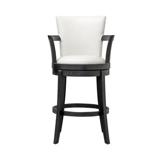 Neptune Off White Leather Swivel Bar Stool 1
