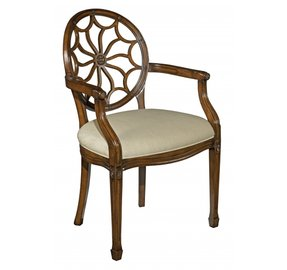 New Dining Arm Chair Hepplewhite Santa Fe Finish Hardwood Solid Wood Oval