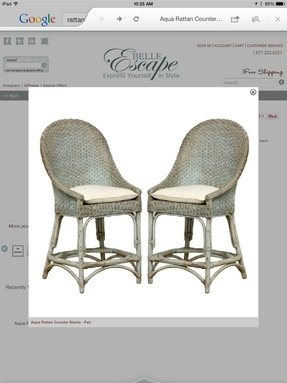 Rattan Counter Height Stools