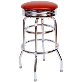 Red vinyl bar stools