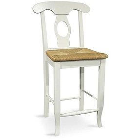 Rush Seat Counter Bar Stool 1