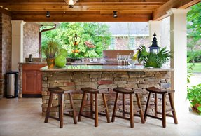 Rustic outdoor bar