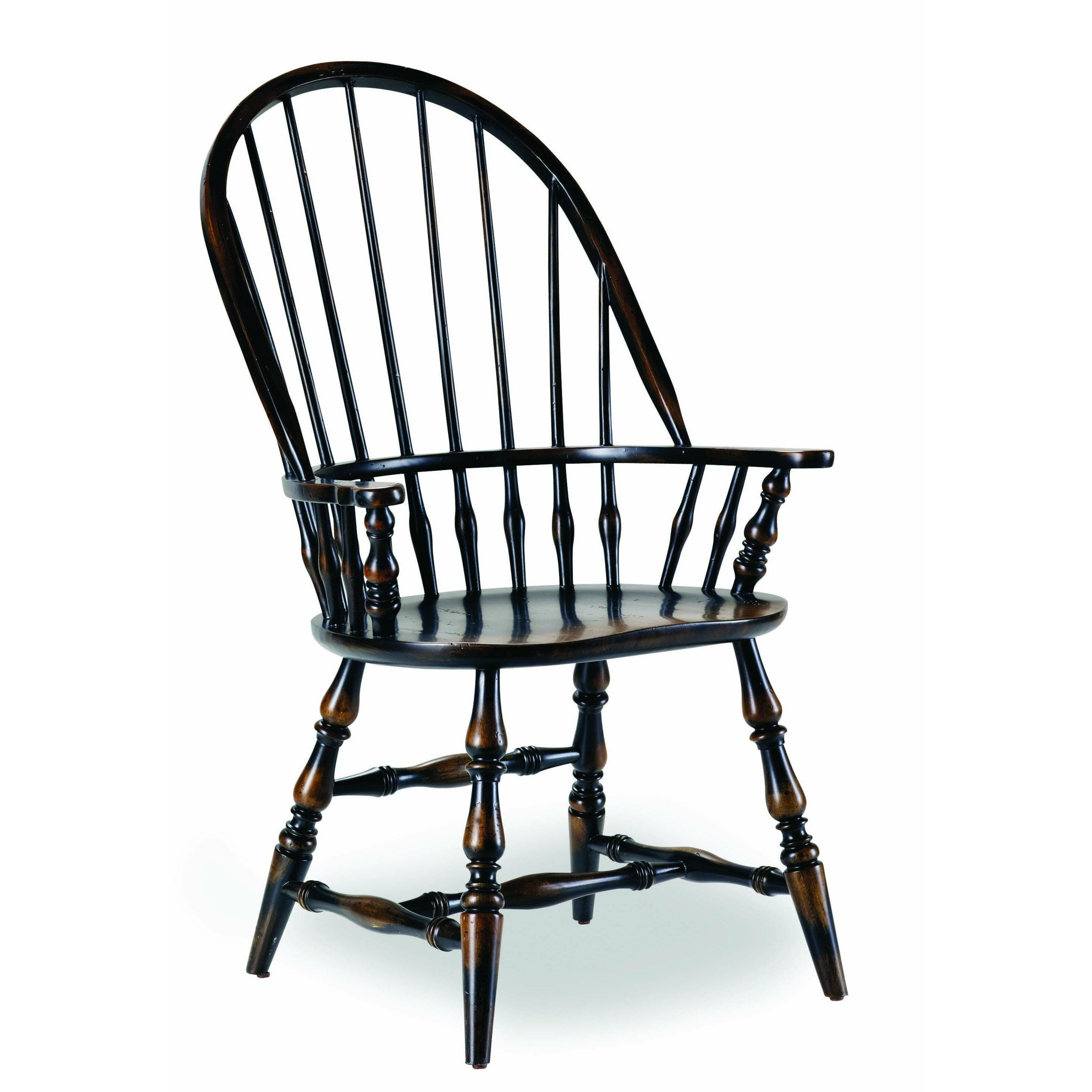 Sanctuary Spindle Back Arm Chair [Set Of 2] Finish: Ebony