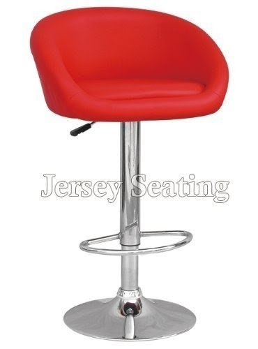 Attirant Set Of 2 Jersey Seating Red Leather Bar Stool Counter