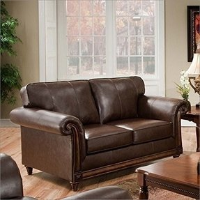 Simmons Upholstery 8001-02 San Diego Coffee Bonded Leather Loveseat