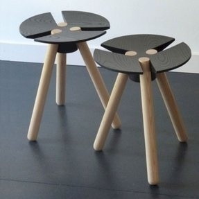 Small 3 legged wooden stool