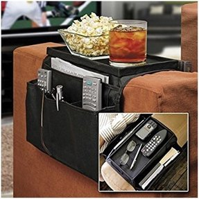 SODIAL(R) Large 6 Pocket Sofa Couch Arm Rest Remote Caddy Organiser