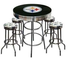 Sports themed bar stools