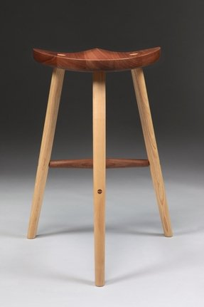 Stool made in sustainably sourced black