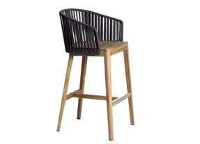 Teak outdoor bar stools