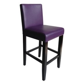 Villa Faux Leather Boysenberry Counter Stools Set Of 2 1