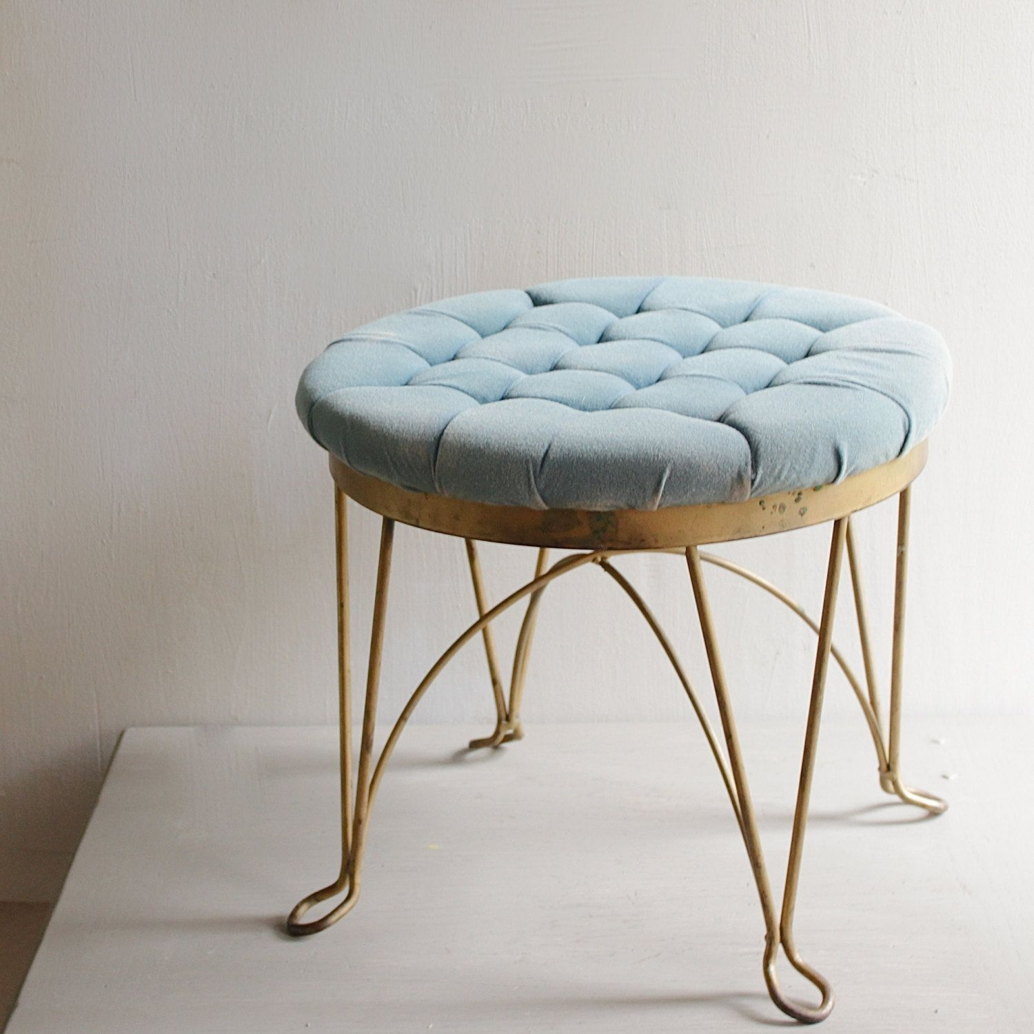 Vintage tufted stool