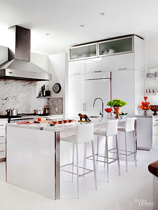 Foter & White Leather Bar Stools - Ideas on Foter