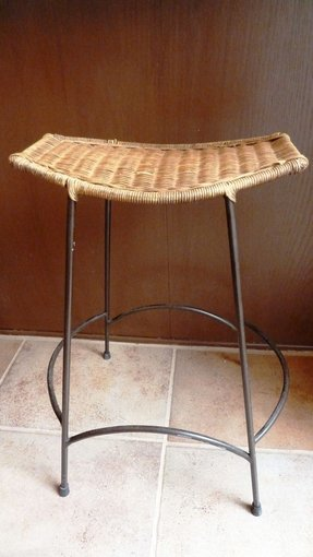 Wrought iron counter height stool 5