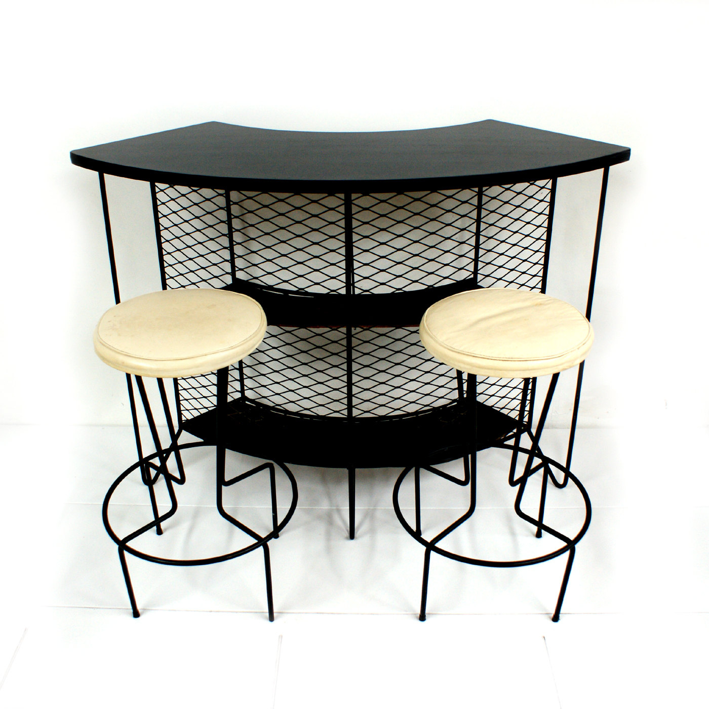 1950s weinberg wrought iron cocktail bar
