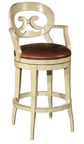Bar Stools Stunning Backrest Sleek Leg Design And Beautiful Leather Upholstered Seat Make This Antique White Swivel Car Stool Astonishing