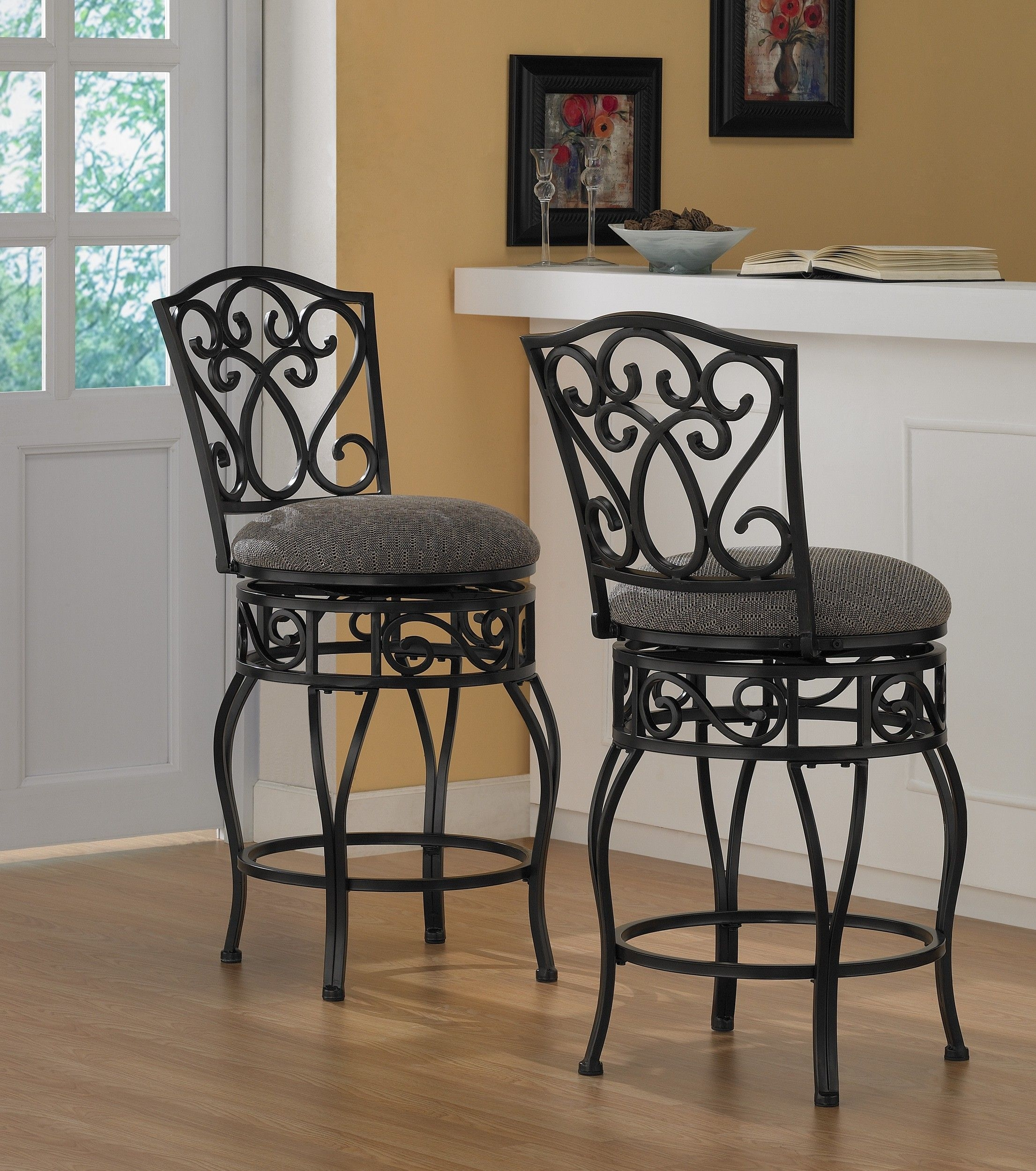 Chase 24 Inch Swivel Counter Stools Set Of 2