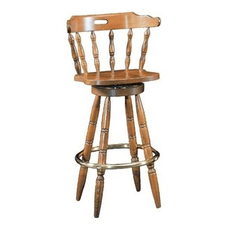 High Back Swivel Captains Oak Counter Bar Stools In Hemet