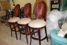 Italian swivel bar stools