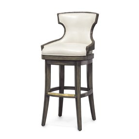 Leather rattan bar stool 15