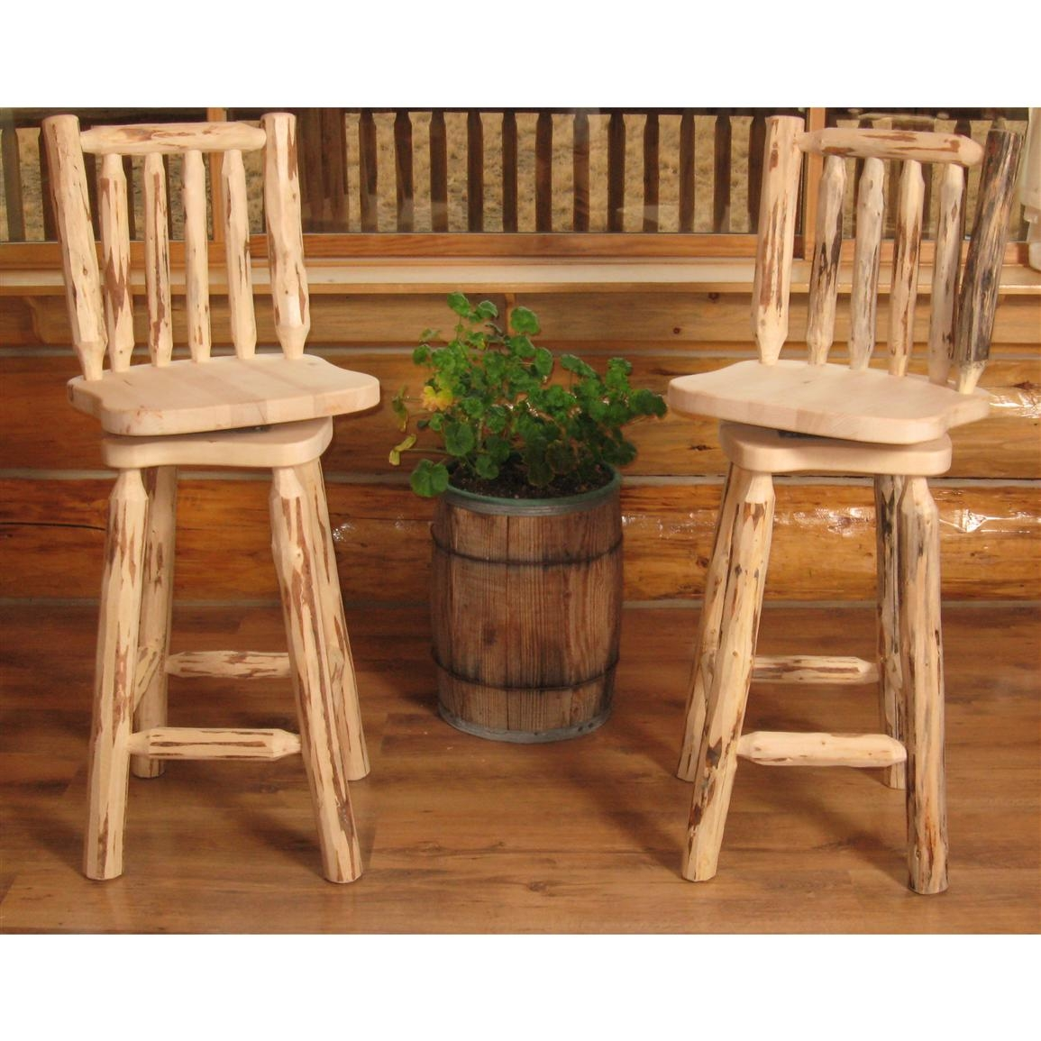 Crafted Of The Finest Aspen Logs And Strengthened With Durable Hardware,  The Stool Is Going To Be A Real Hit During Quality Times With Your Friends.
