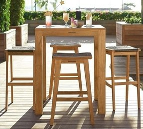 Teak Bar Height Table Foter - Teak pub table and chairs