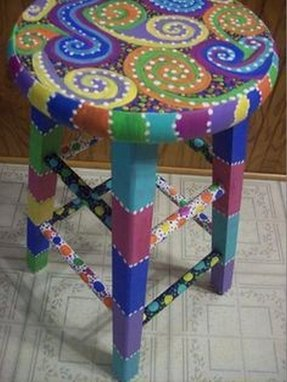 Painted bar stools