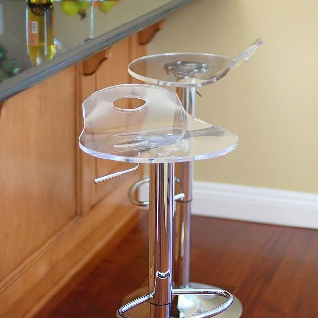 Portola Rst Living Acrylic Barstools Set Of 2