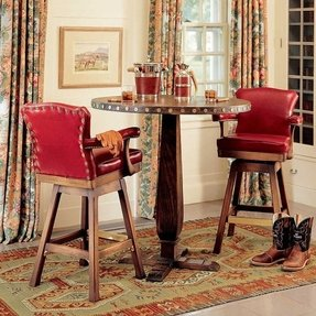 Red leather bar stool king ranch