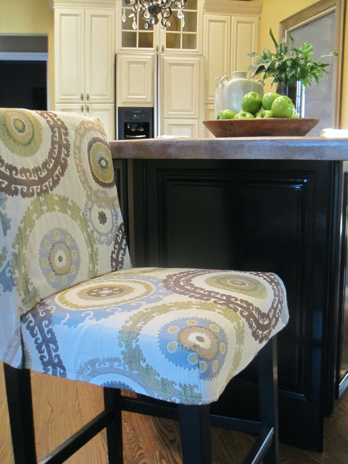 Round Bar Stool Seat Covers