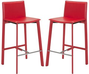 Safavieh madison ave 30 inch red leather bar stool set