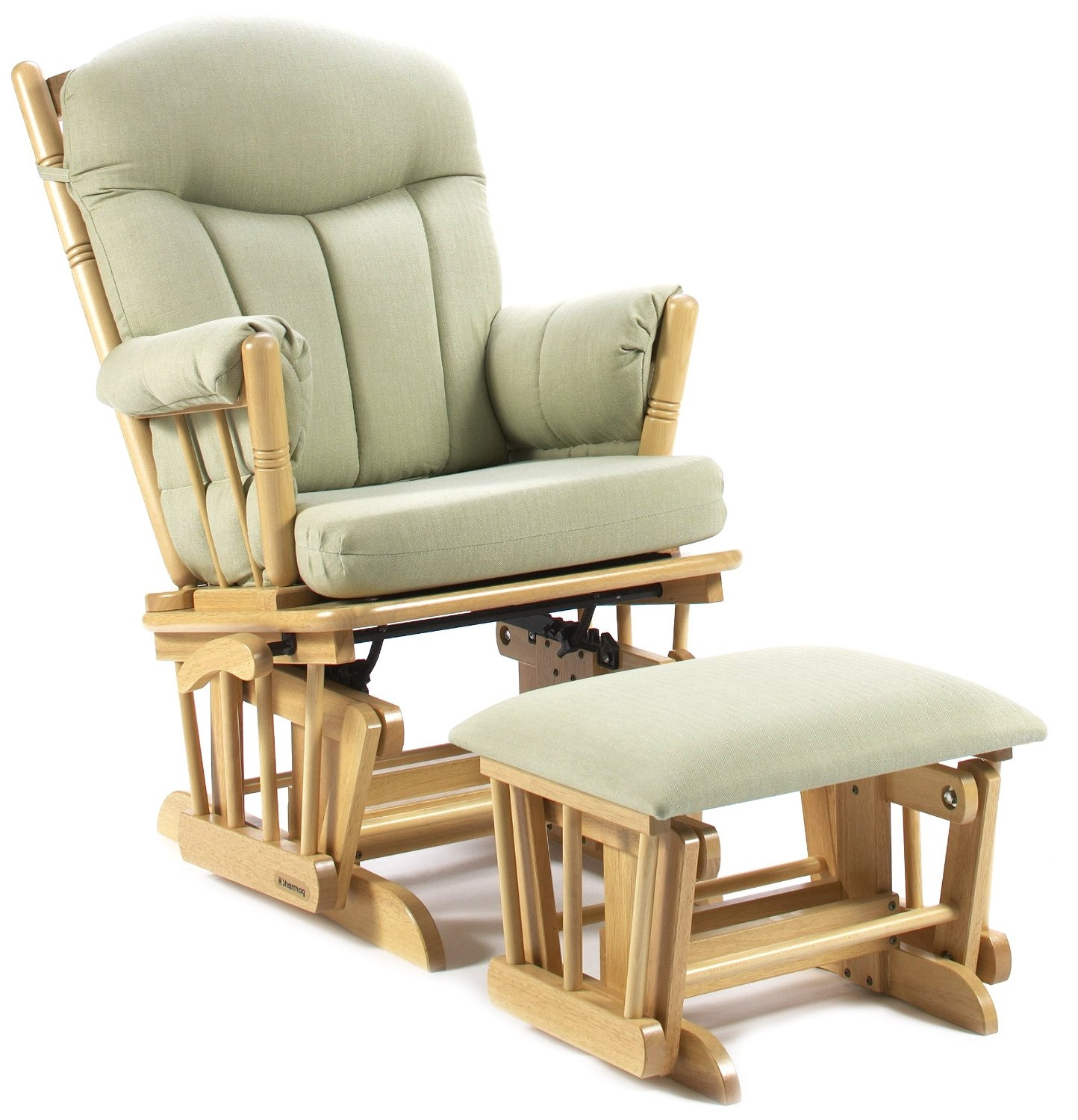 Shermag Post Glider Rocker Combo, Natural/Light Green