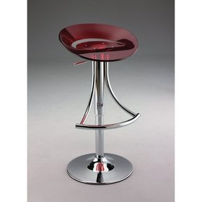 Swivel barstool with gas lift in red acrylic s6060 red