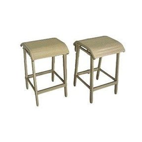 This pair of bar stools comes in a desert stone