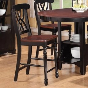 Wood counter height bar stools 3