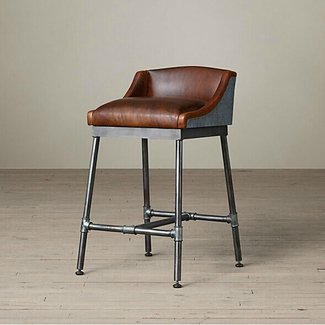 Remarkable Leather Iron Bar Stools Ideas On Foter Creativecarmelina Interior Chair Design Creativecarmelinacom