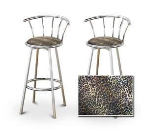 Black Chrome Bar Stools 1