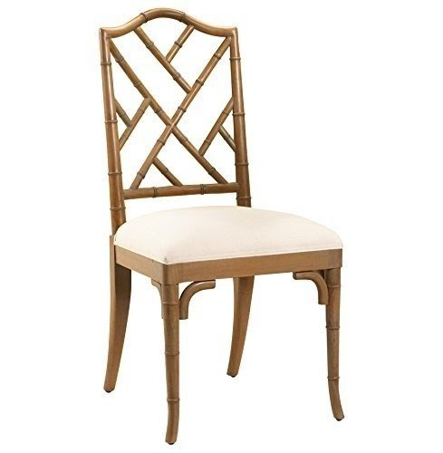 Chinese Chippendale Hollywood Regency Brown Bamboo Dining Chair