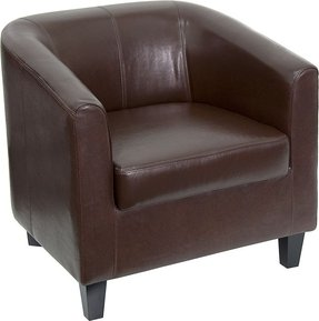 Flash Furniture Brown Leather Office Guest Chair/Reception Chair